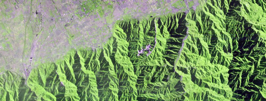Image hyperspectrale de Tiangong 1