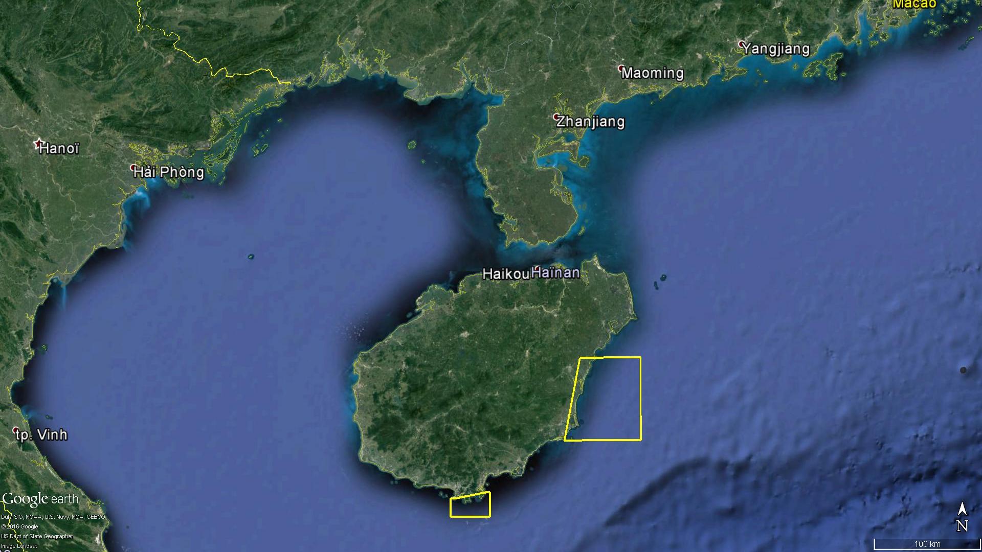Exercice naval du 19 au 21 Juillet à l'Est de Haïnan, et du 20 au 22 au Sud de l'île