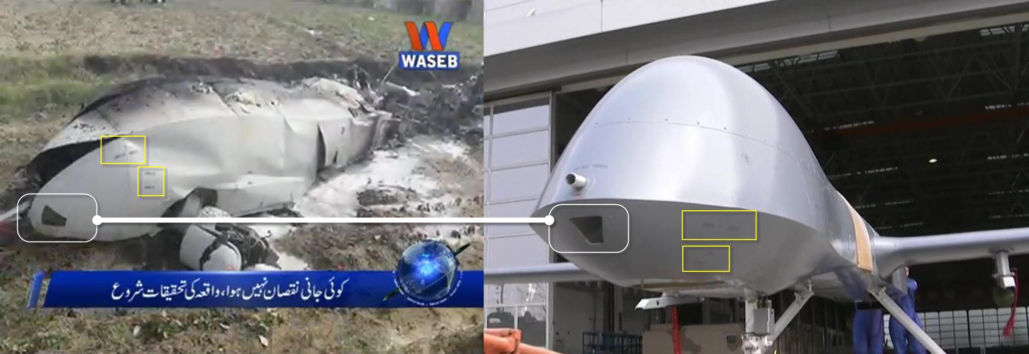 3 éléments visuels qui permettent d'identifier le Wing Loong écrasé