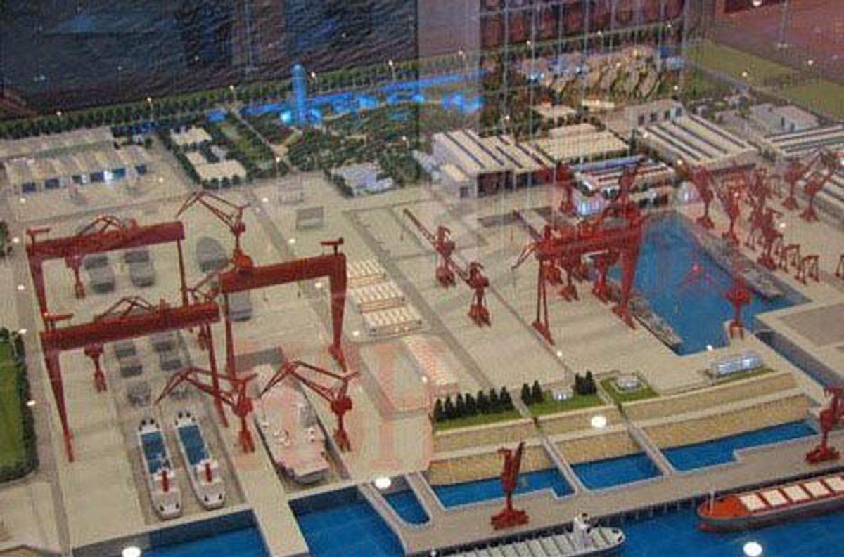 Maquette interne du chantier naval Changxing Jiangnan