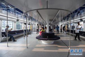 A l'intérieur du wagon de TEB-1