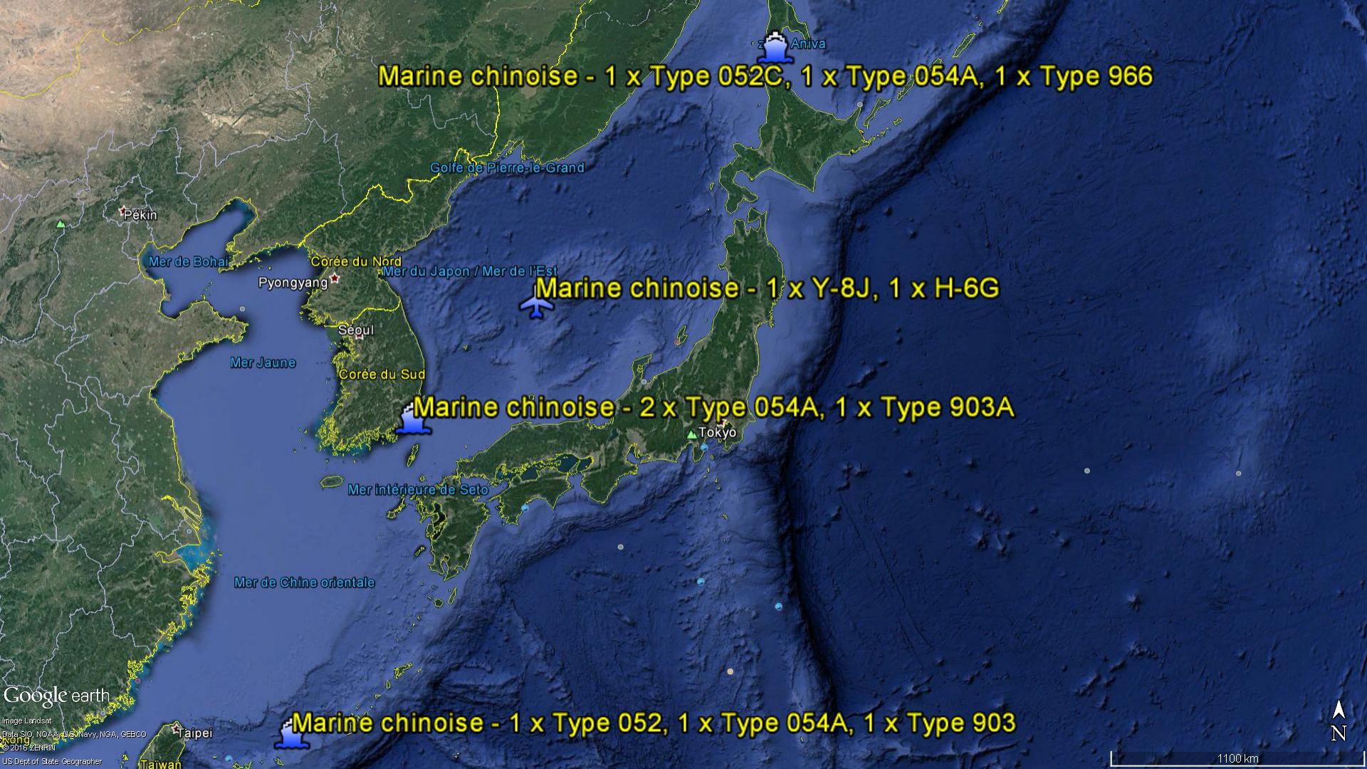 2016 08 19 - La marine chinoise autour du Japon - 01