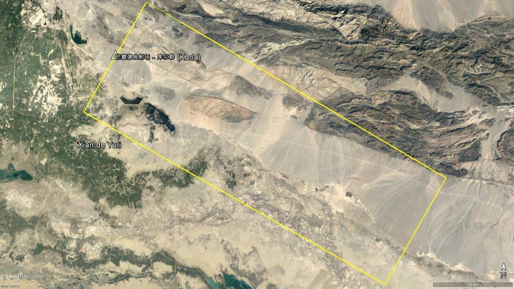 Zone d'interdite d'accès du NOTAM A2188/16 (Antiaérien ou antimissile)