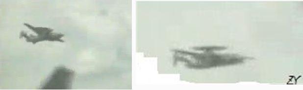 AWACS en vol (authenticité non vérifiable)