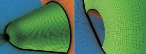 Modèle géométrique de simulation avec un trou de 2 à 10mm de diamètre
