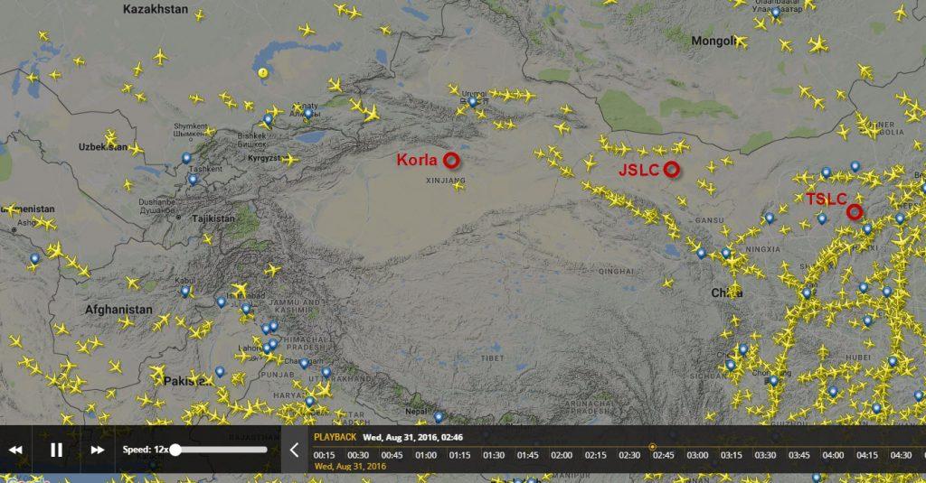 Les vols commerciaux de 02h45 à 04h00 UTC le 31 Août