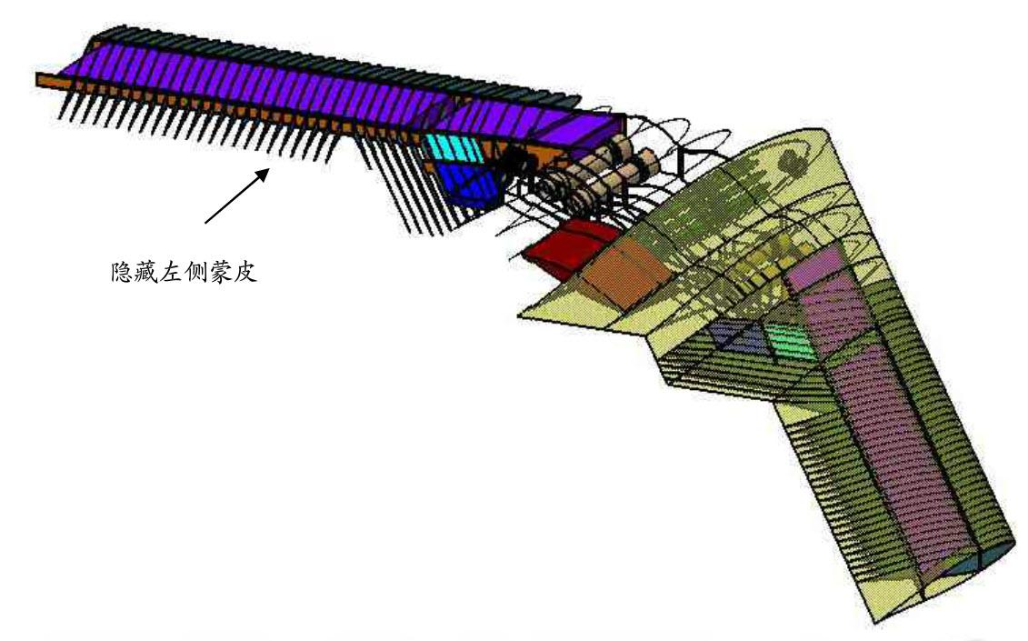 Maquettes numériques d'un bombardier aile-volante, extrait d'une thèse de l'Université d'aéronautique et d'astronautique de Nankin