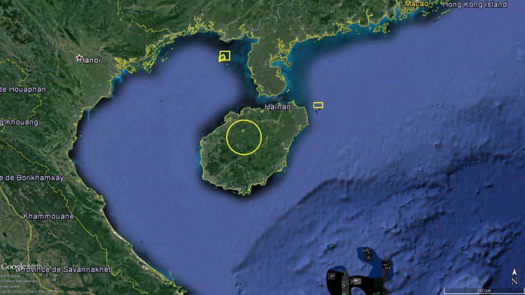 Zones d'exercice naval dans le Nord de la mer de Chine méridionale : Août 2016