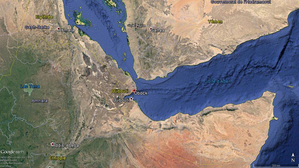 La localisation d'Obock à Djibouti