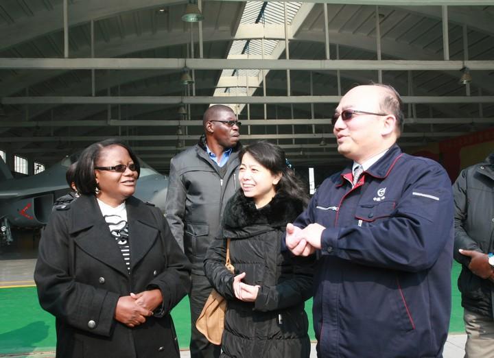 Visite de la ZAF en Chine le 10 Janvier 2013