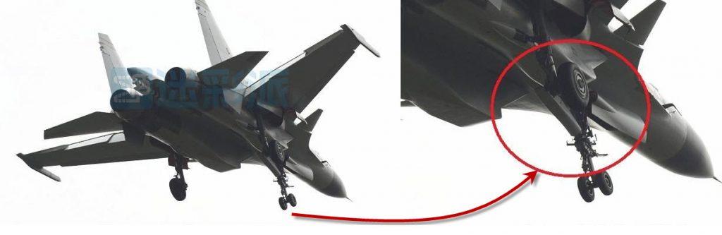 Une autre vue du J-15 catapultable