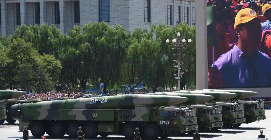 16 TEL de DF-26 se sont défilés devant le regard des millions de personne en Chine le 3 Septembre 2015