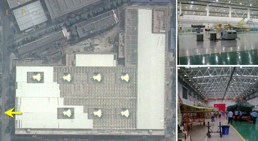 Hall d'assemblage final de J-20 (??) - Source : Google Earth / East Pendulum