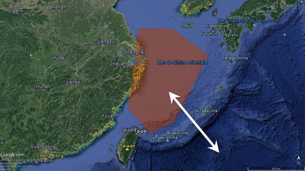 l'ADIZ chinoise et le détroit de Miyako