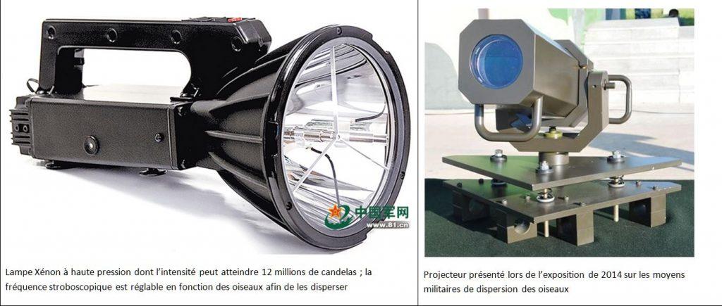 lampe stroboscopique et projecteur - lutte contre les collisions avec des oiseaux