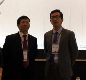 A gauche, le CEO de Landspace, ZHANG Chang Wu (张昌武), à l'IAC 2016