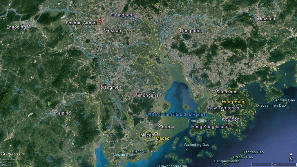 L'aéroport de Foshan Shadi et la ville de Zhuhai