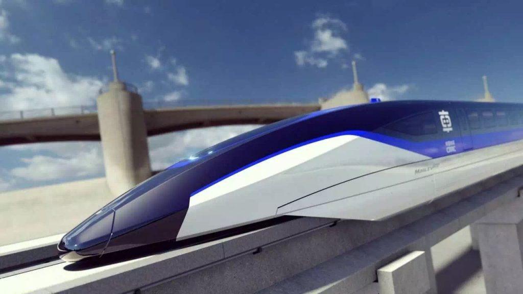 La vue d'artiste du train Maglev de 600 km/h