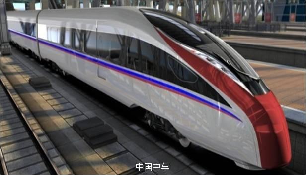 La vue d'artiste du TGV de 400 km/h, avec boggie à écartement variable.