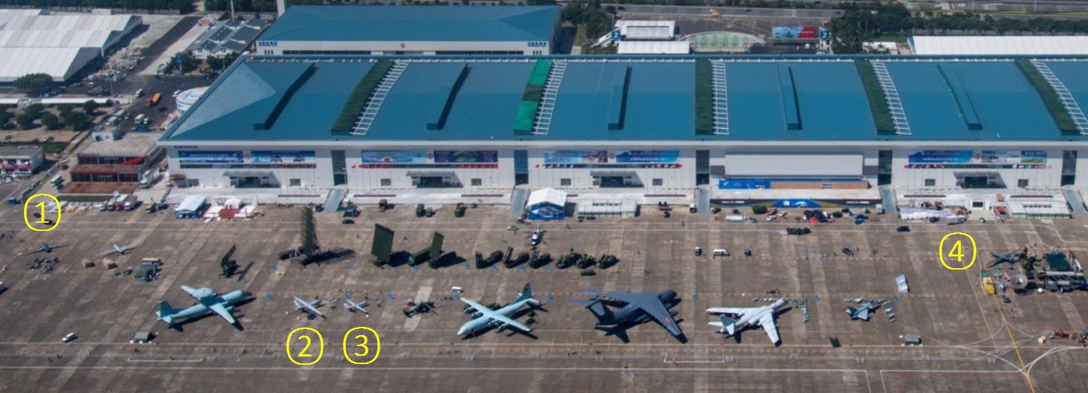 Une vue aérienne du site de l'Airshow China 2016 (Source : 罗韬1515)