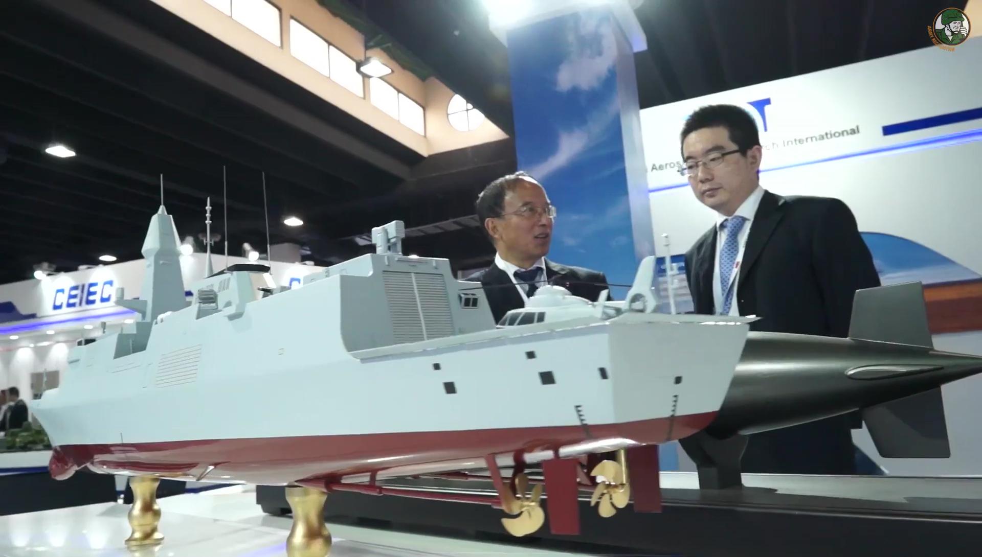 La maquette de la nouvelle frégate C28A (?) proposée par CSSC (Source : Army Recognition)