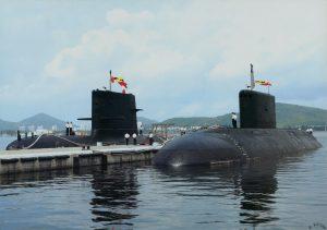 Un Projet 636M et un Type 039 de la flotte du Sud chinoise