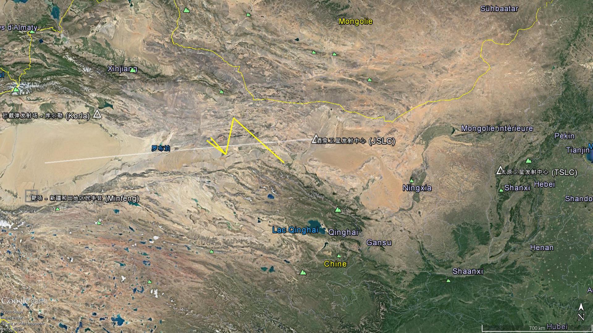 Un autre essai balistique qui aura lieu vers 07h00 UTC le 6 Décembre 2016